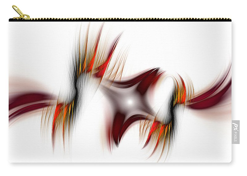Abstract Carry-all Pouch featuring the digital art Flamme Flamme by Georgiana Romanovna
