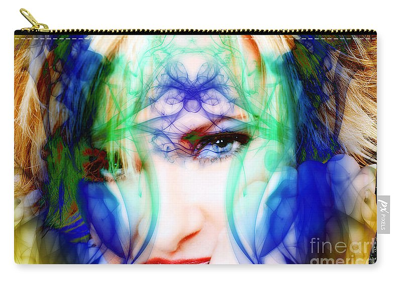 Clay Carry-all Pouch featuring the digital art Flash by Clayton Bruster
