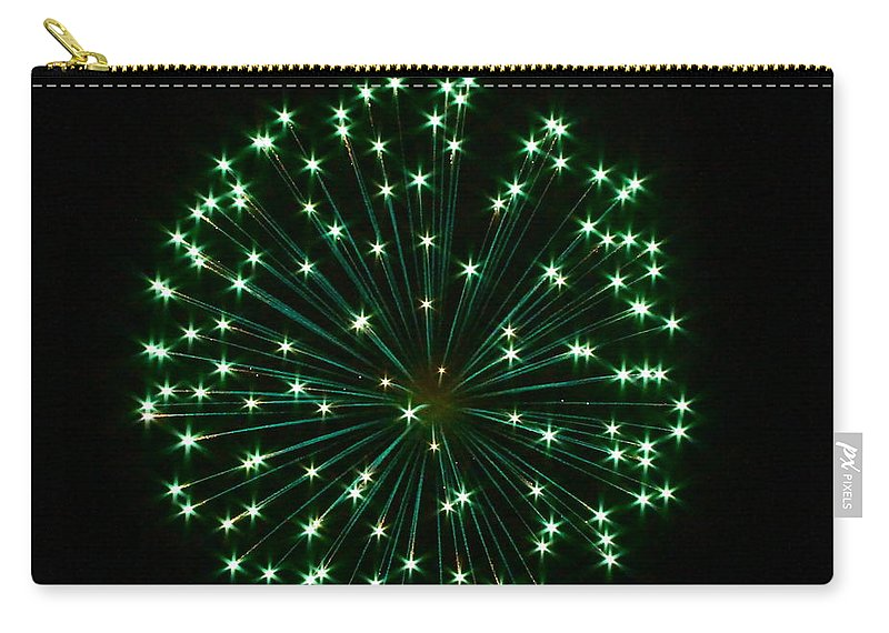 Green Carry-all Pouch featuring the photograph Flash Of Green by Rick Monyahan