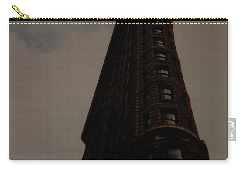 Flat Iron Building Carry-all Pouch featuring the photograph Flat Iron Building by Rob Hans
