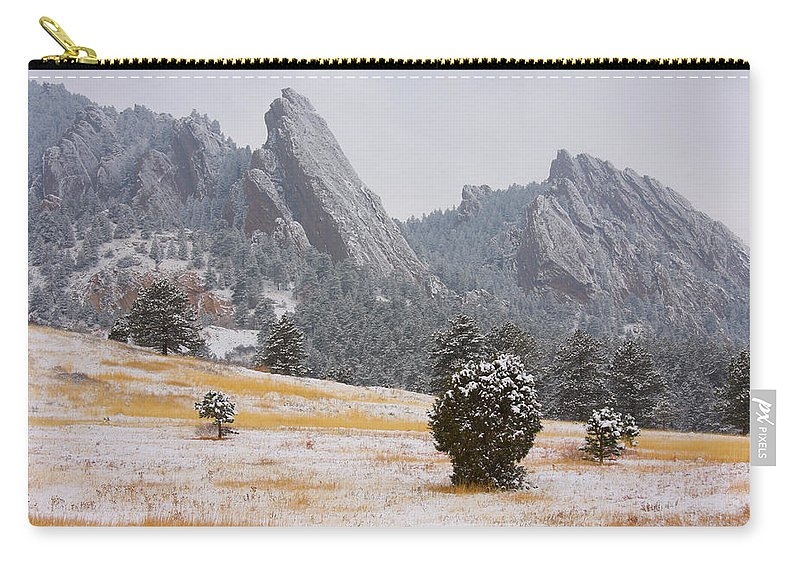 Flatirons Carry-all Pouch featuring the photograph Flatiron Meadows - Boulder Colorado by James BO Insogna