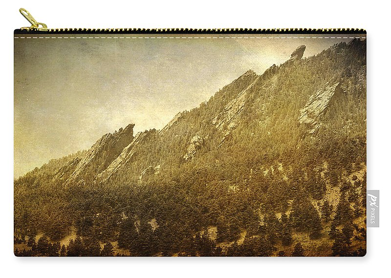 Flatirons Carry-all Pouch featuring the photograph Flatiron Views Boulder Colorado by James BO Insogna