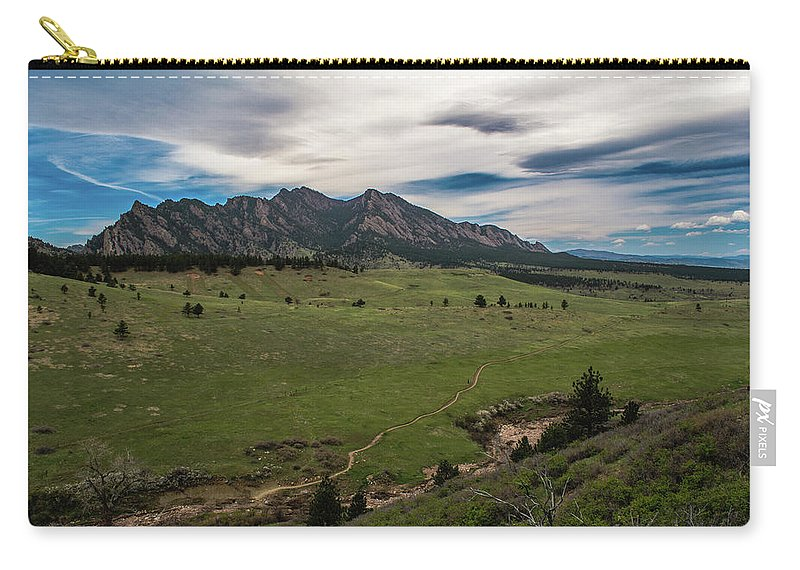 Artisans Carry-all Pouch featuring the photograph Flatirons From South Trails by Cary Leppert