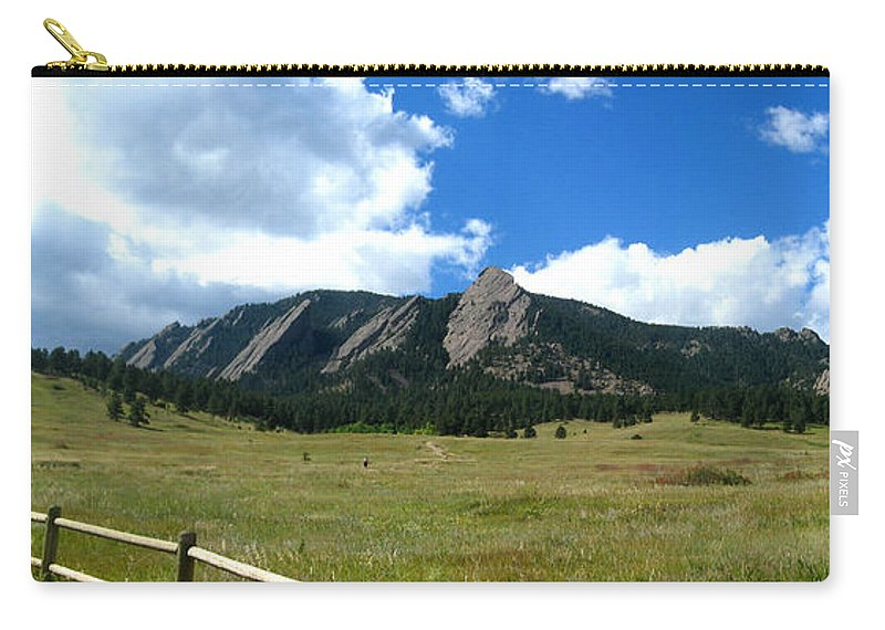 Flatiron Carry-all Pouch featuring the photograph Flatirons Panorama by Thomas Marchessault