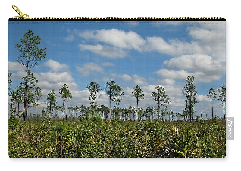 Nature Carry-all Pouch featuring the photograph Flatwoods Scrub by Peg Urban