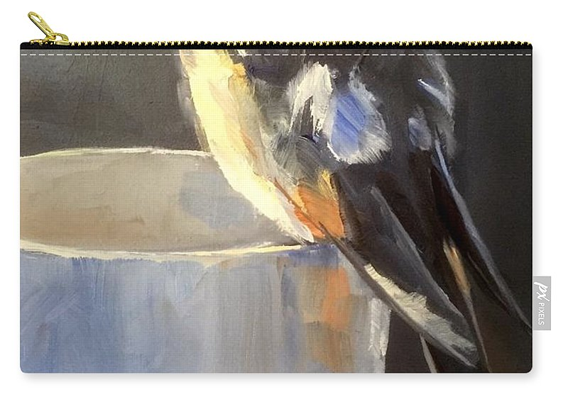 Bird Carry-all Pouch featuring the painting Fledgling by Gary Bruton