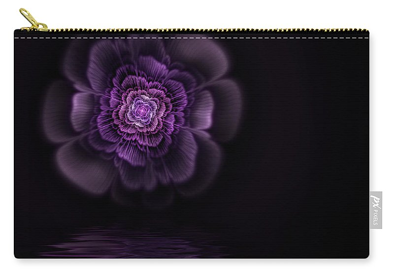 Flame Fractal Carry-all Pouch featuring the digital art Fleur by John Edwards