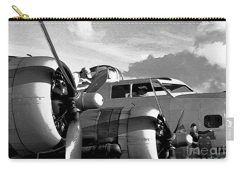 Flying Fortress Carry-all Pouch featuring the photograph Flight Check by David Lee Thompson