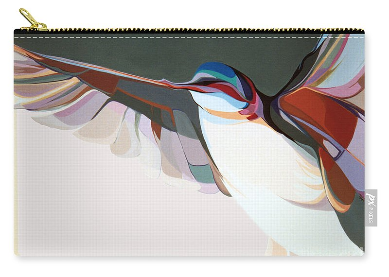 Abstract Carry-all Pouch featuring the painting Flight Of Fancy by Marlene Burns