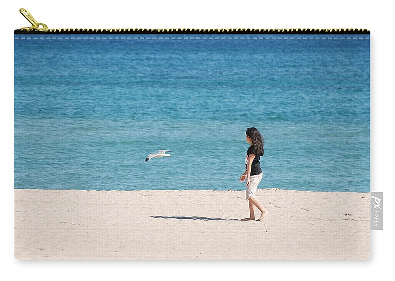 Ocean Carry-all Pouch featuring the photograph Flight Of The Angel by Rob Hans