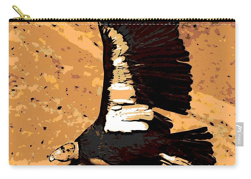 New World Carry-all Pouch featuring the photograph Flight Of The Condor by George Pedro