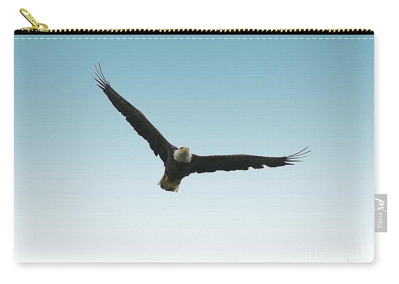 Bird Carry-all Pouch featuring the photograph Flight Over Lake Carmi by Deborah Benoit