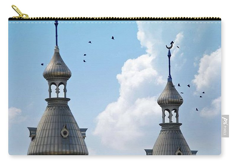 University Of Tampa Carry-all Pouch featuring the photograph Flight Over The Crescents by Jost Houk