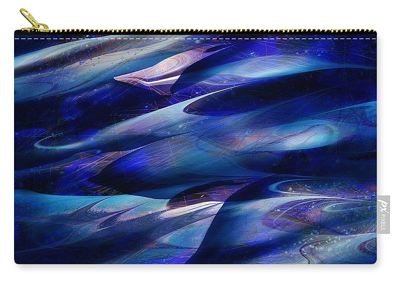 Abstract Carry-all Pouch featuring the digital art Flight by William Russell Nowicki