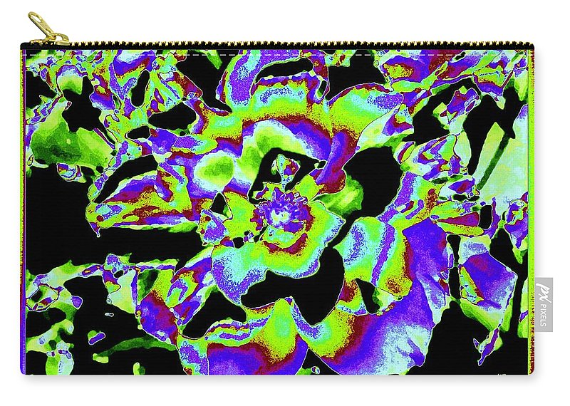 Abstract Carry-all Pouch featuring the digital art Flin Flon Rose by Will Borden