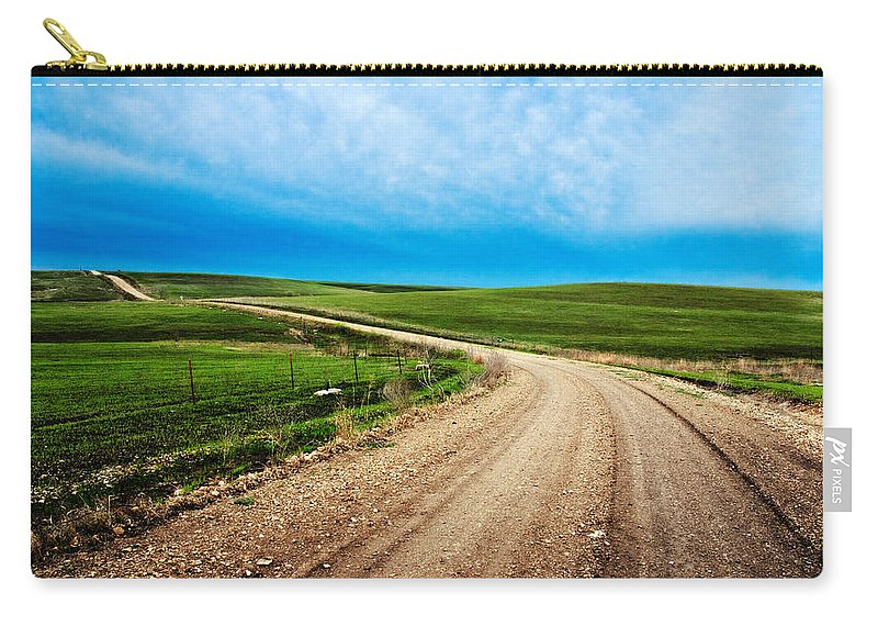 Spring Carry-all Pouch featuring the photograph Flint Hills Spring Gravel by Eric Benjamin