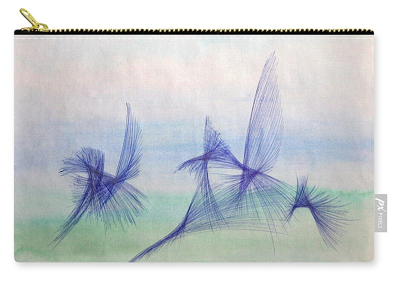 Abstract Carry-all Pouch featuring the mixed media Float by Steve Karol