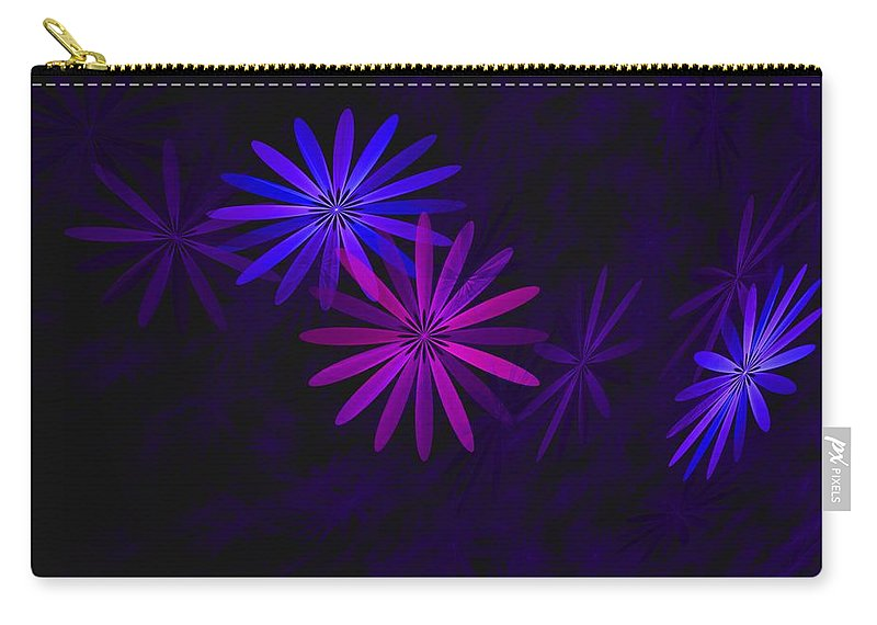 Fantasy Carry-all Pouch featuring the digital art Floating Floral - 009 by David Lane