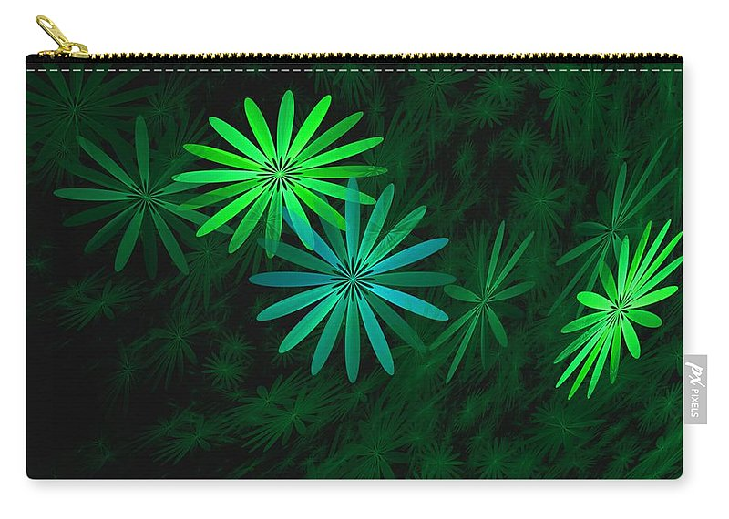 Digital Photography Carry-all Pouch featuring the digital art Floating Floral-007 by David Lane