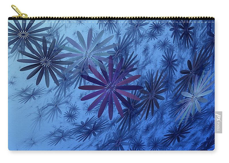 Digital Photography Carry-all Pouch featuring the digital art Floating Floral-010 by David Lane