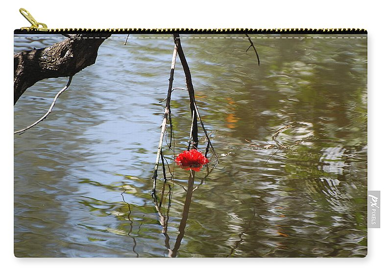 Water Carry-all Pouch featuring the photograph Floating Flower by Rob Hans