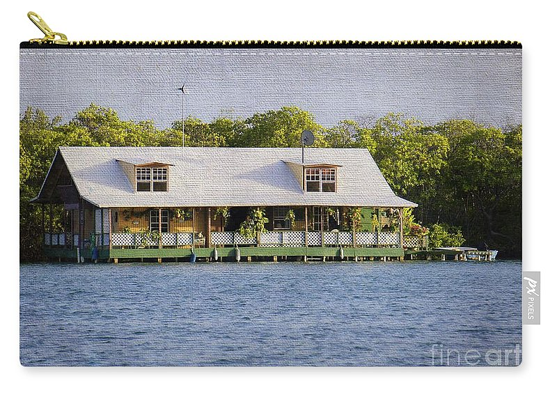 Floating House Carry-all Pouch featuring the photograph Floating House In La Parguera Puerto Rico by Lilliana Mendez