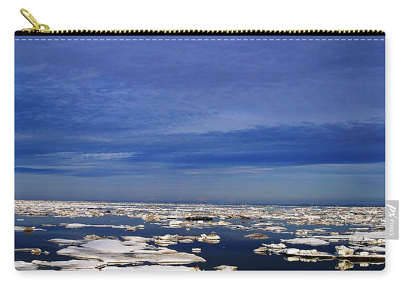 Alaska Carry-all Pouch featuring the digital art Floating Ice by Anthony Jones