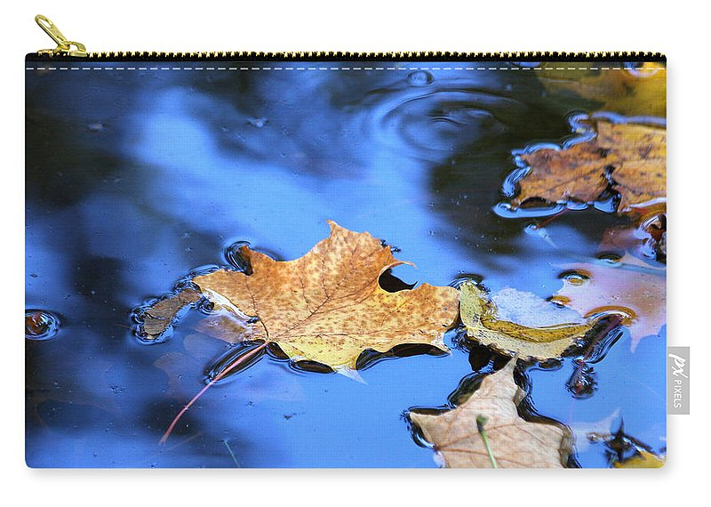 Autumn Carry-all Pouch featuring the photograph Floating On The Reflected Sky by Doris Potter
