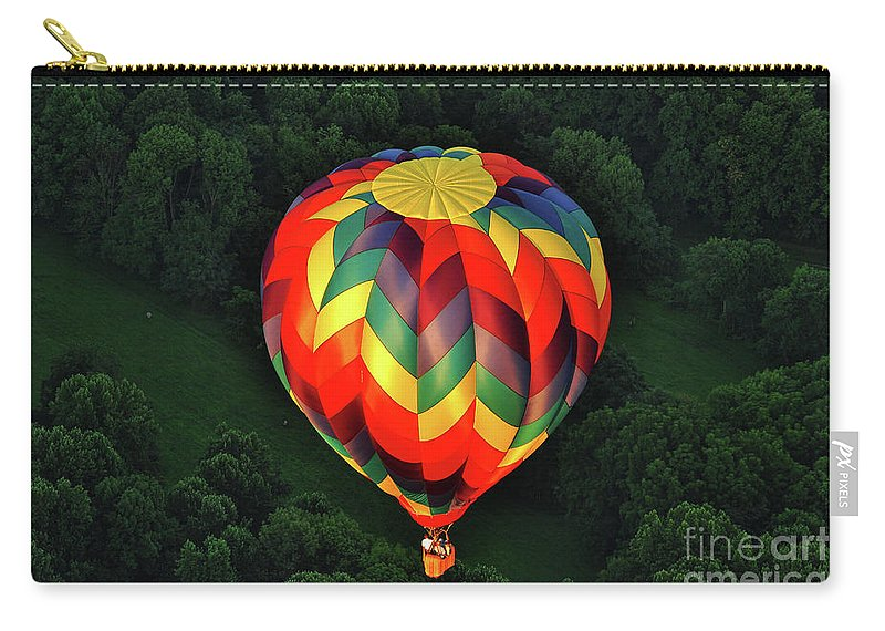 Balloon Carry-all Pouch featuring the photograph Floating Rainbow by Lori Tambakis