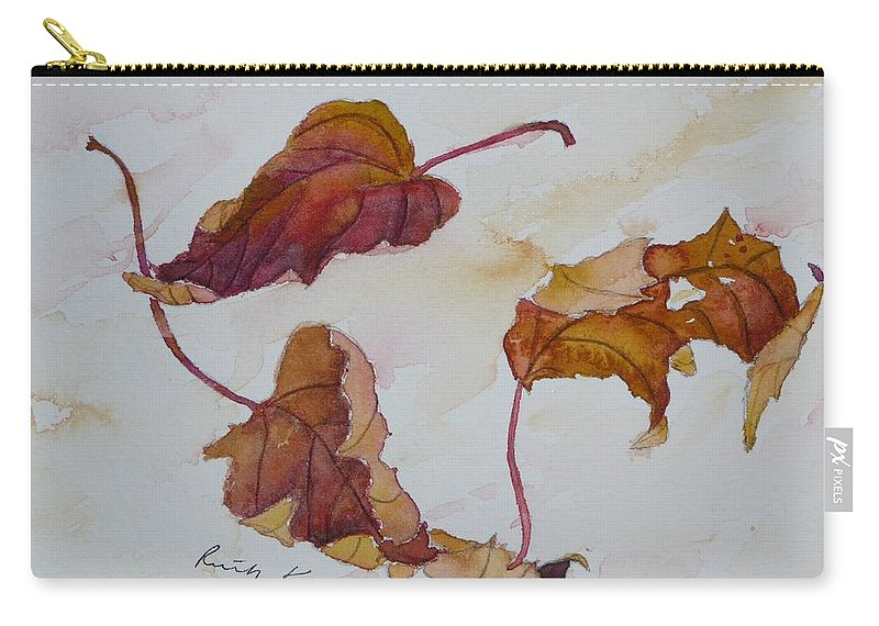 Fall Carry-all Pouch featuring the painting Floating by Ruth Kamenev