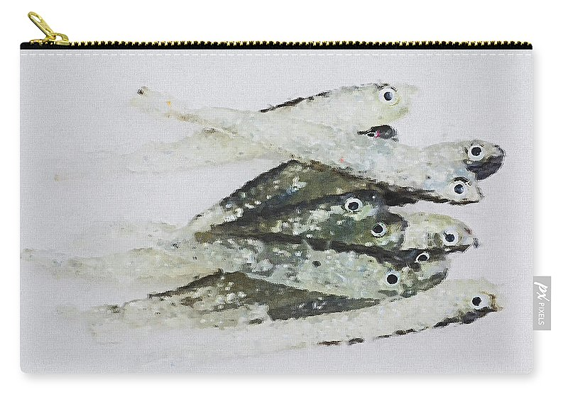 Fishing Carry-all Pouch featuring the photograph Flock Of Lures by Pekka Liukkonen