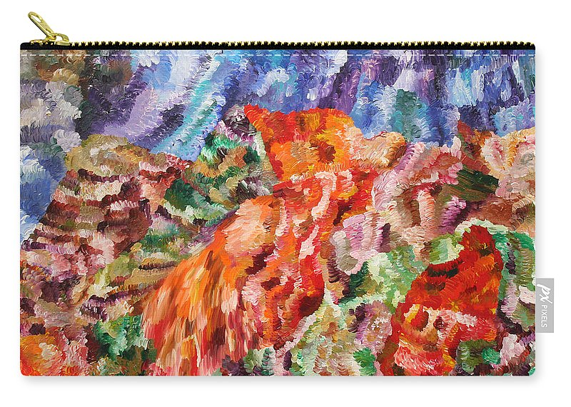 Fusionart Carry-all Pouch featuring the painting Flock by Ralph White