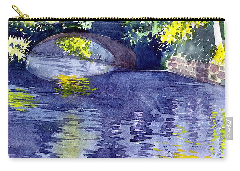 Nature Carry-all Pouch featuring the painting Floods by Anil Nene