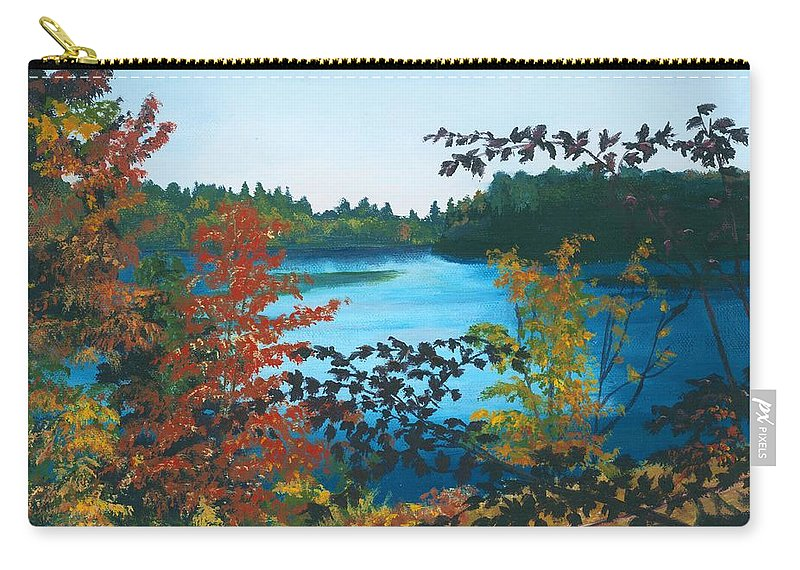 Floodwood Carry-all Pouch featuring the painting Floodwood by Lynne Reichhart