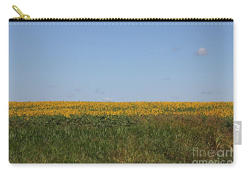 Sunflowers Carry-all Pouch featuring the photograph Floral Blur by Amanda Barcon