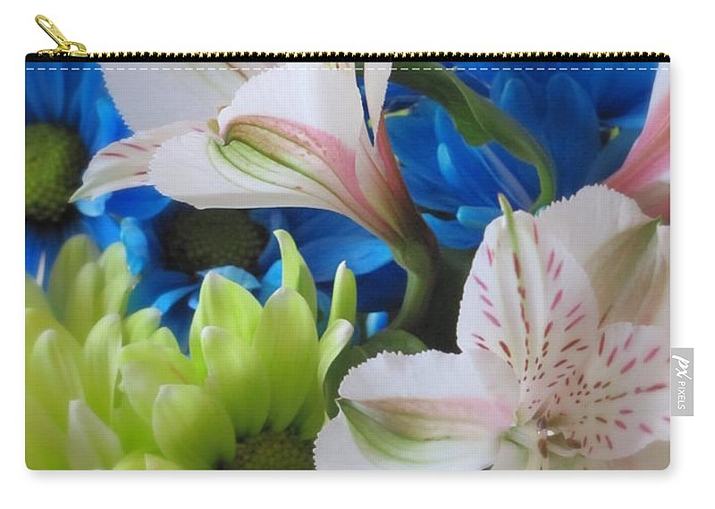 Flowers Carry-all Pouch featuring the photograph Floral Bouquet 1 by Anita Burgermeister