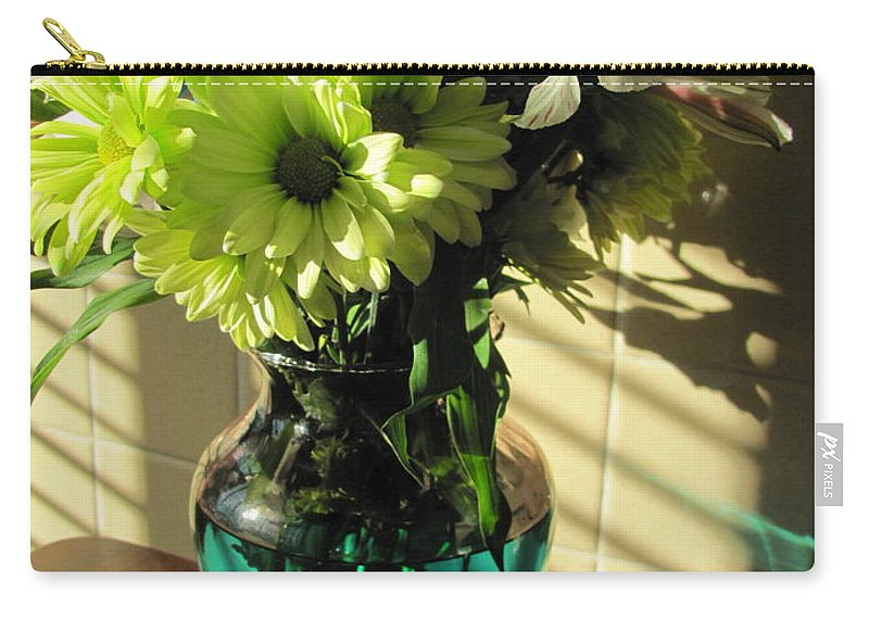 Flowers Carry-all Pouch featuring the photograph Floral Bouquet 3 by Anita Burgermeister