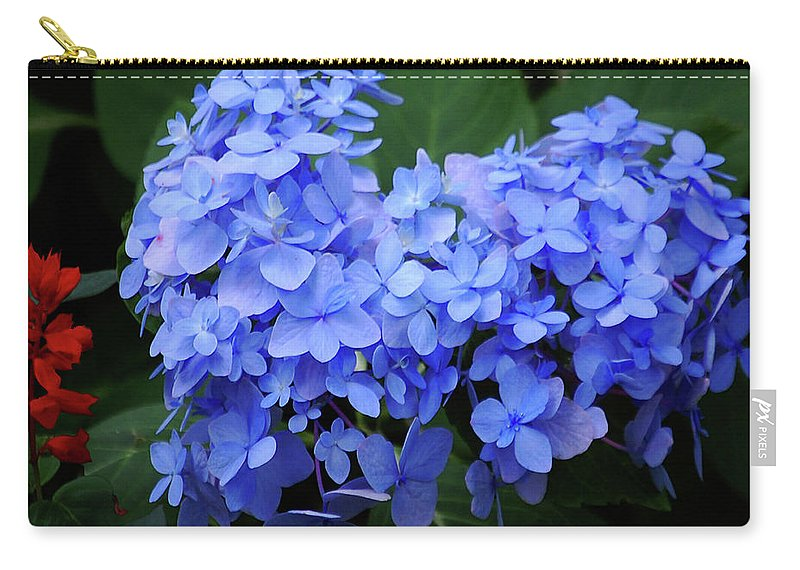Flowers Carry-all Pouch featuring the digital art Floral Duet by DigiArt Diaries by Vicky B Fuller