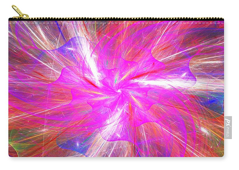 Fine Art Carry-all Pouch featuring the digital art Floral Explosion by David Lane