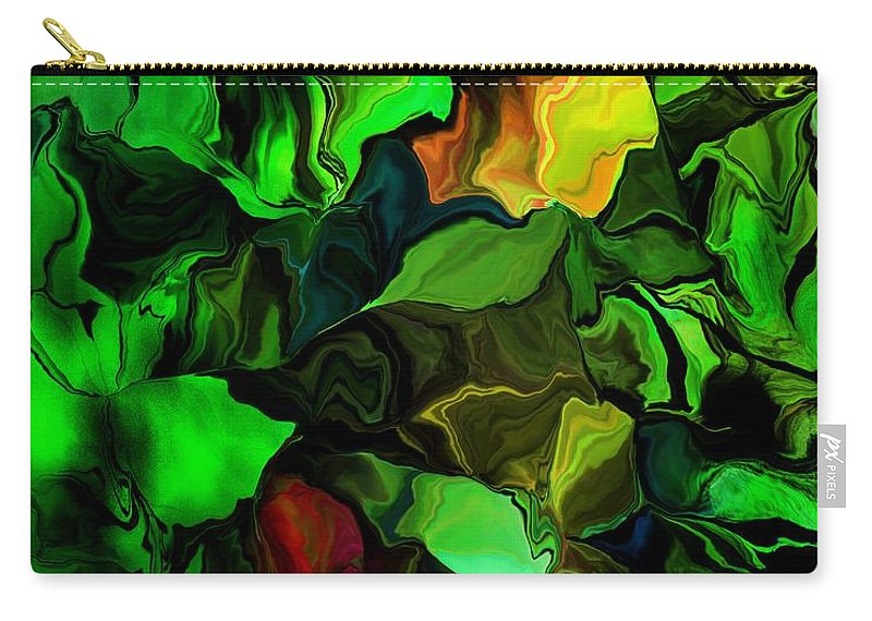 Fine Art Carry-all Pouch featuring the digital art Floral Expression 080616 by David Lane