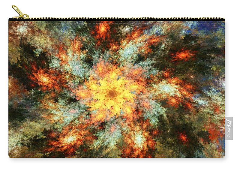 Fine Art Carry-all Pouch featuring the digital art Floral Fantasy 072010 by David Lane