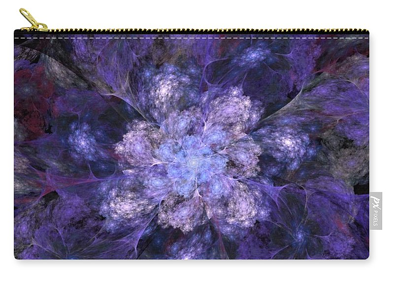 Digital Painting Carry-all Pouch featuring the digital art Floral Fantasy 1 by David Lane