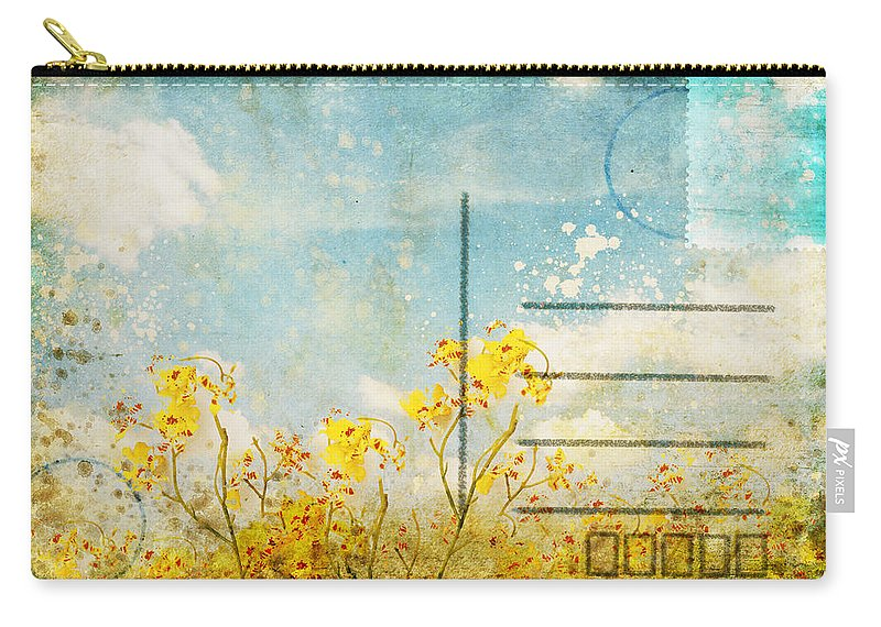 Address Carry-all Pouch featuring the photograph Floral In Blue Sky Postcard by Setsiri Silapasuwanchai