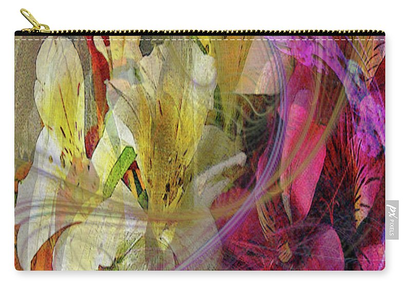 Floral Inspiration Carry-all Pouch featuring the digital art Floral Inspiration by John Beck
