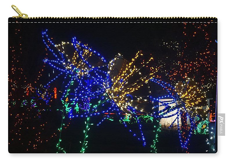 Winter Carry-all Pouch featuring the photograph Floral Lights by Susan Brown