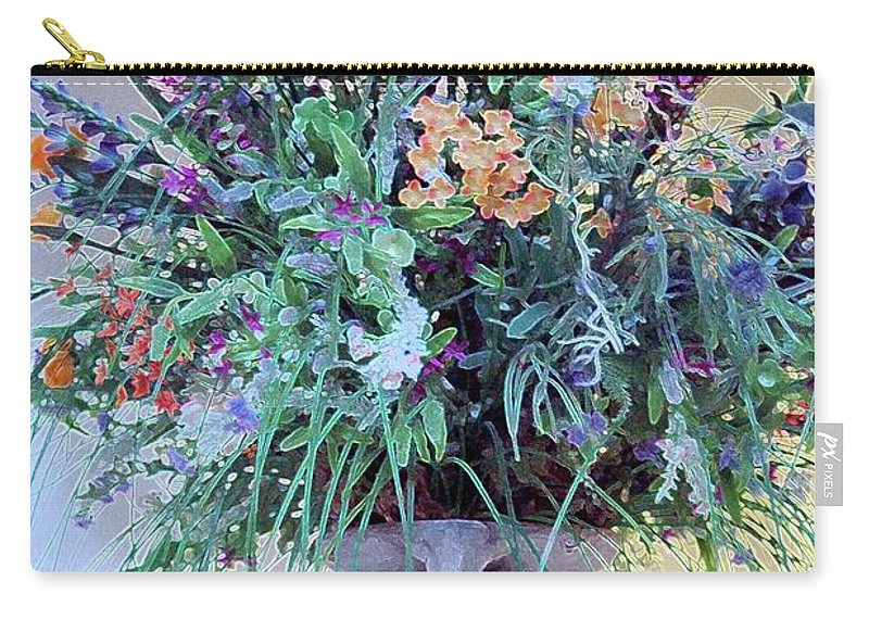 Flower Carry-all Pouch featuring the photograph Floral Piece by Kathleen Struckle