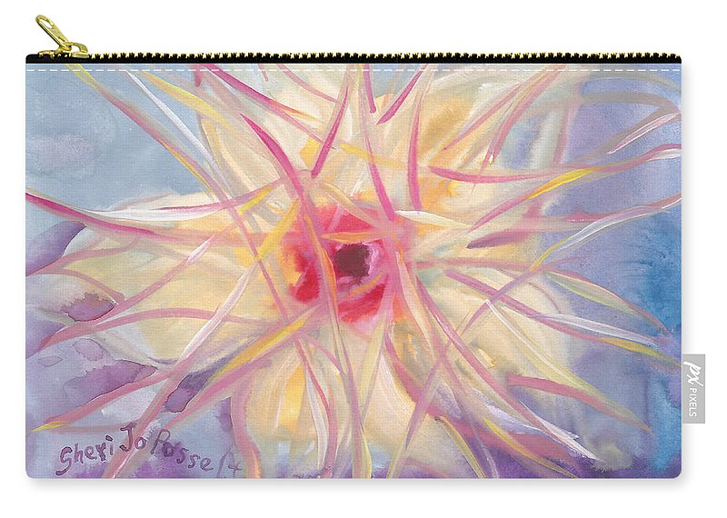 Floral Spirit Of Growth Carry-all Pouch featuring the painting Floral Spirit Of Growth by Sheri Jo Posselt