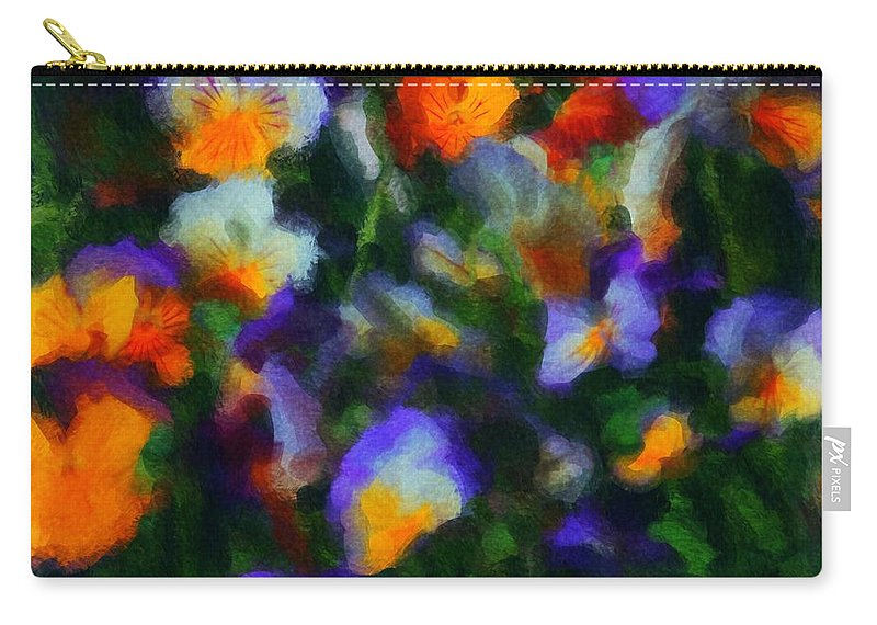 Digital Photography Carry-all Pouch featuring the photograph Floral Study 053010a by David Lane