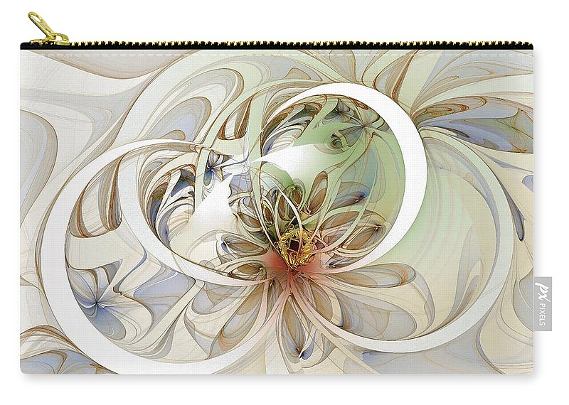 Digital Art Carry-all Pouch featuring the digital art Floral Swirls by Amanda Moore