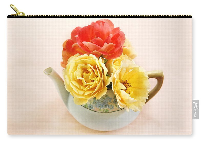 Flower Carry-all Pouch featuring the photograph Floral Tea by Marilyn Hunt
